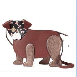 NWT Kate Spade Floral Face Pup Dog Crossbody